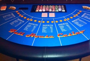 Let It Ride Poker Table Rental For Casino Parties Irvine, Orange County, CA