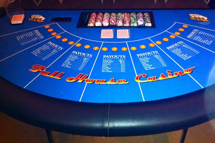 Rent Let It Ride Poker Tables | Full House Casino Events