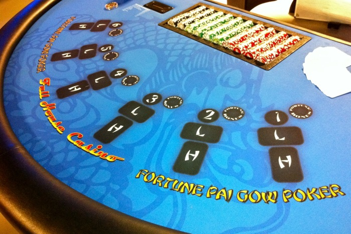 Pai Gow Poker Table Full House Casino Party Rentals