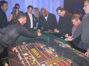 Evander Holyfield at the Craps Table